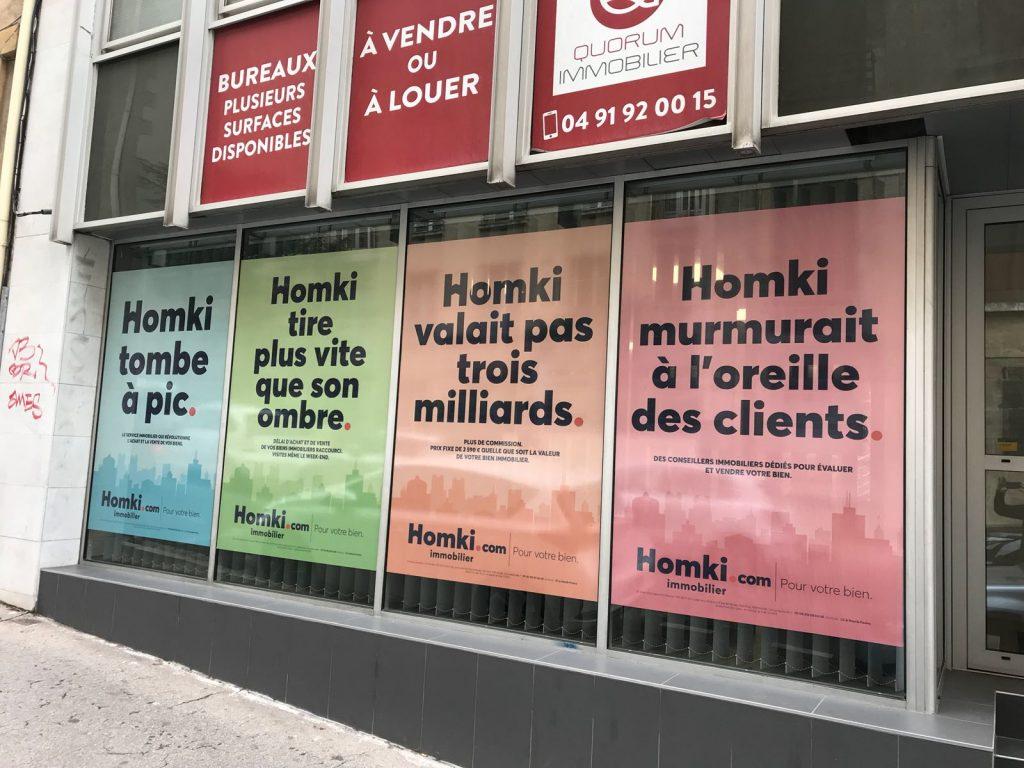 Vinyle adhésif micro perforé Marseille